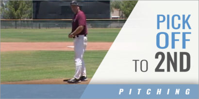 Pick off moves to second base - Mike Woods - Hamilton (AZ) HS [VIDEO]