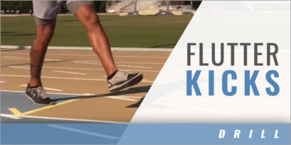 Sprints: Flutter Kicks Drill