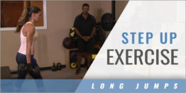 Strength and Conditioning: Long Jumper Step Up Exercise