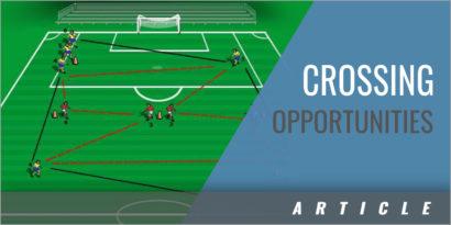 Overlapping Full Backs Creating Crossing Opportunities