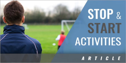 Include Stop and Start Activities in Your Training