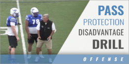 Offensive Line Pass Protection Disadvantage Drill
