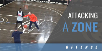 Attacking a Zone Warm Up Drill