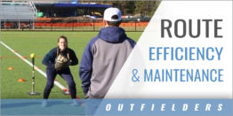 Outfielder's Route Efficiency and Maintenance