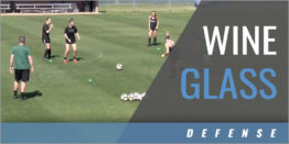 Wine Glass Defensive 1-2 Passing Drill