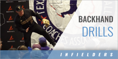 Infielder's Backhand Drills