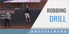 Outfielder's Robbing Drill