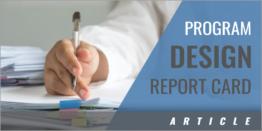 Program Design Integration Report Card