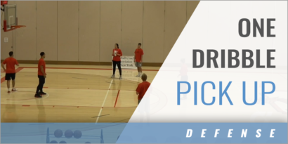 Closeout Drill: One Dribble Pick Up