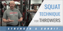 Squat Technique for Throwers