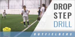 Outfielder's Drop Step Drill