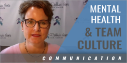 Mental Health and Team Culture