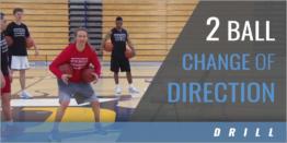 Two Ball Change of Direction Drill