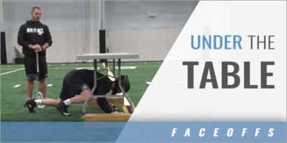 Faceoff Drill Under the Table