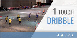 1 Touch Dribble Drill