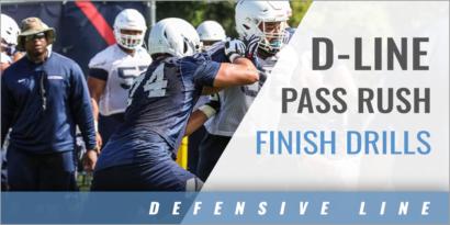 D-Line Pass Rush Finish Drills with Dennis Dottin-Carter - UCONN
