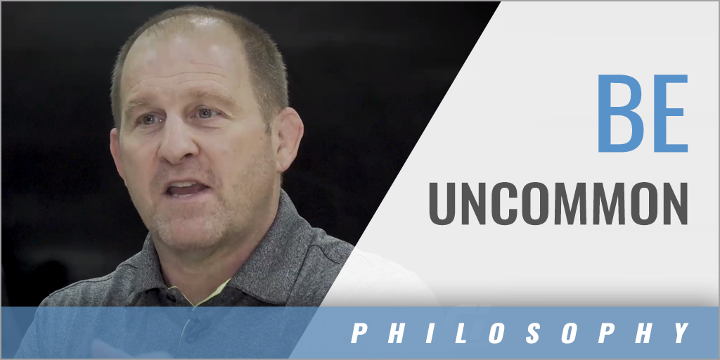 Be Uncommon by Being Consistent