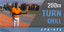 200m Turn Drill with David Neville – Univ. of Tennessee