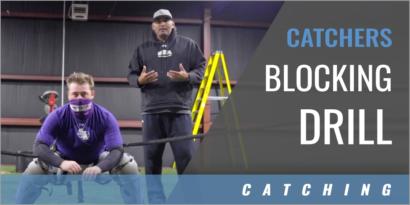 Catchers Blocking Drill Using Elastic Bands