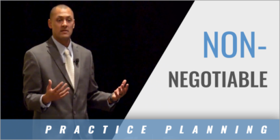 Practice Plan: Non-Negotiable