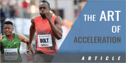 The Art of Acceleration - The Transition Phase in the 100m