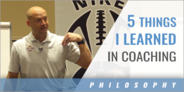 5 Things I Learned in Coaching