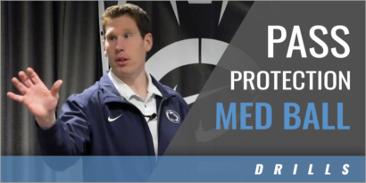 Pass Protection Med Ball Drills
