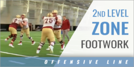 Offensive Line 2nd Level Zone Footwork Drills