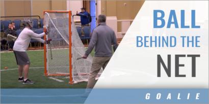 Goalies: Ball Behind the Net