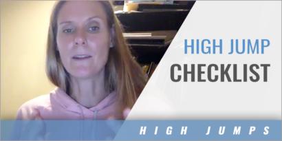 High Jump Checklist