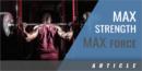 Maximum Strength, Maximum Force – Strength Training for Athletics