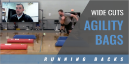 Running Backs: Wide Cuts Agility Bags Drill