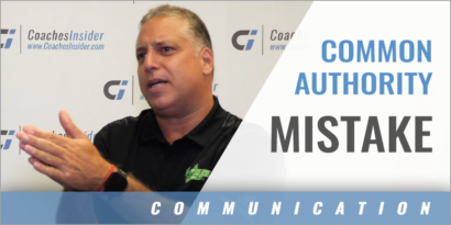 A Common Mistake People in Authority Make