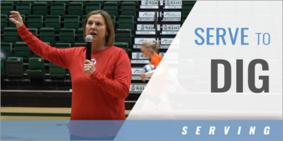 Serve to Dig Transition Drill