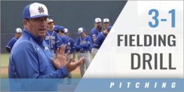 Pitcher's 3-1 Fielding Drill