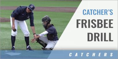 Catcher's Frisbee Receiving Drill