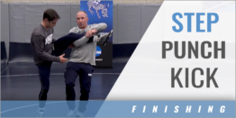 Single Leg Step-Punch-Kick Finish