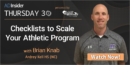 EP 64: Checklists to Scale Your Athletic Program with Brian Knab – Ardrey Kell HS (NC)