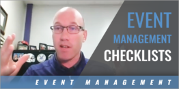 Using Checklists to Assist in Event Management