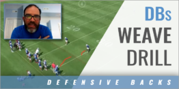 Defensive Backs Weave Drill